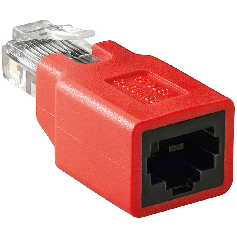 a5c1 adapter crossover rj45 stecker rj45 buchse patchkabel lan ebay. Black Bedroom Furniture Sets. Home Design Ideas